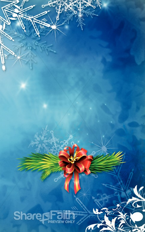 Winter Snowflake Church Bulletin Cover