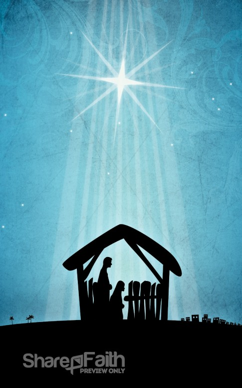 Nativity Scene Church Bulletin Cover