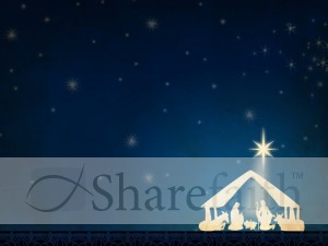 Nativity Scene Background Slide