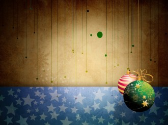 Xmas Ornaments Background
