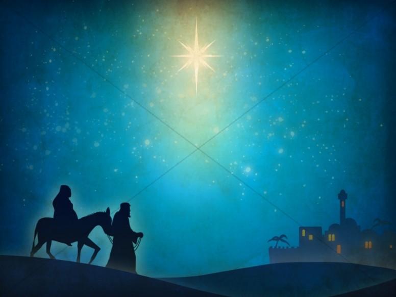 Nativity scene worship background away in a manger worship background