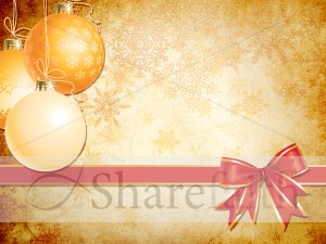Christmas Ornaments Worship Background
