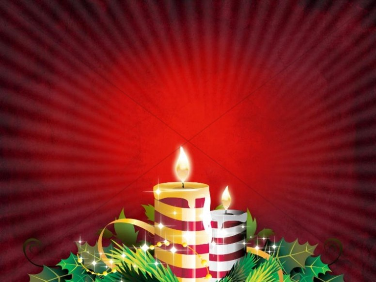 Christmas Candle Worship Backgrounds