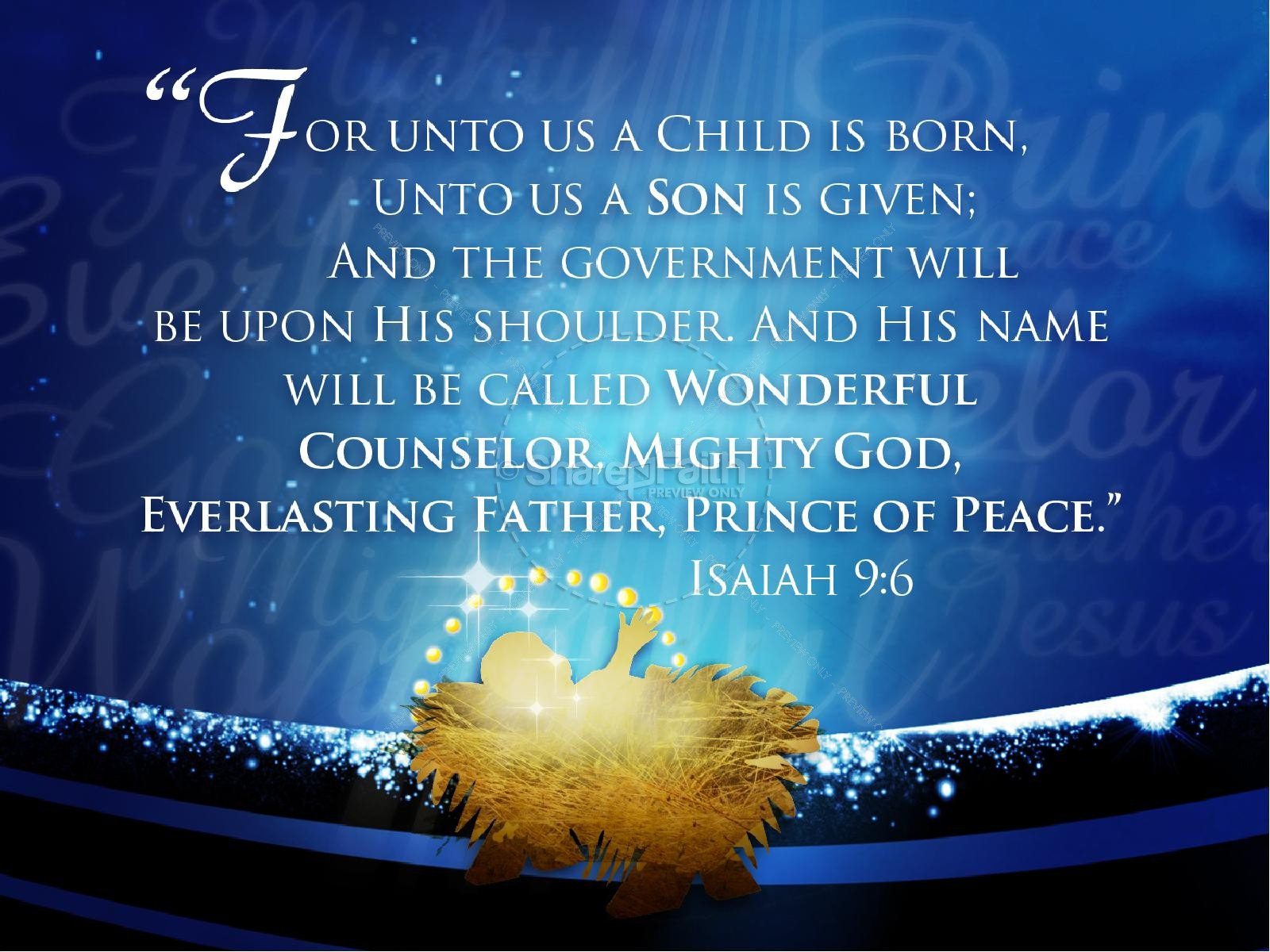 Nativity PowerPoint Sermon Template | slide 4