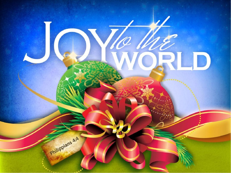 Joy to the World Christmas PowerPoint