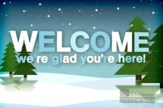 Christmas Season Welcome Video Loops