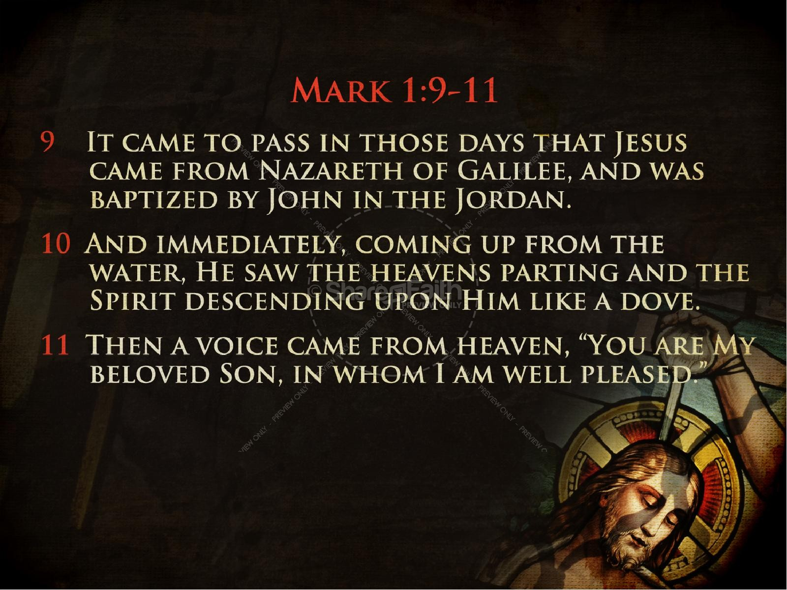 Baptism of the Lord Jesus Church PowerPoint | slide 2