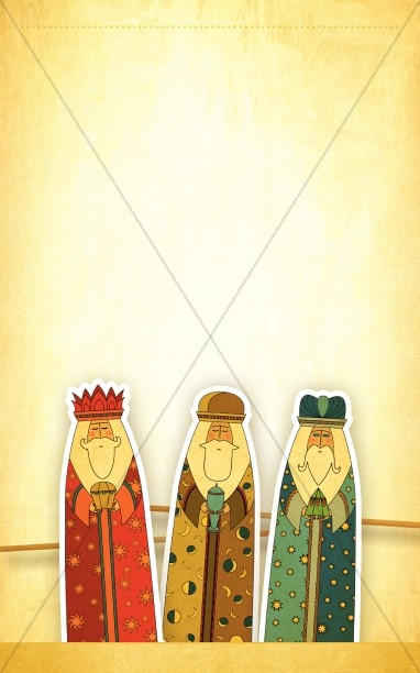 Three Kings Bulletin Cover Templates