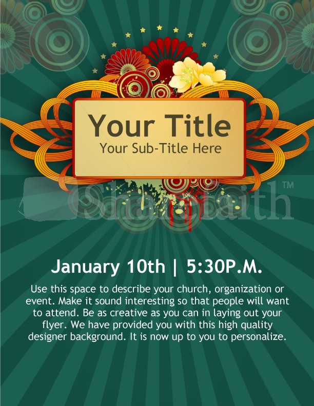 Lovely New Year Church Event Flyer Templates With Flyer Samples For An Event