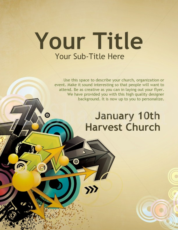 Direction Church Flyer Templates | page 1