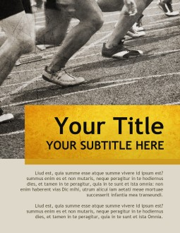 Run the Race Flyer Templates