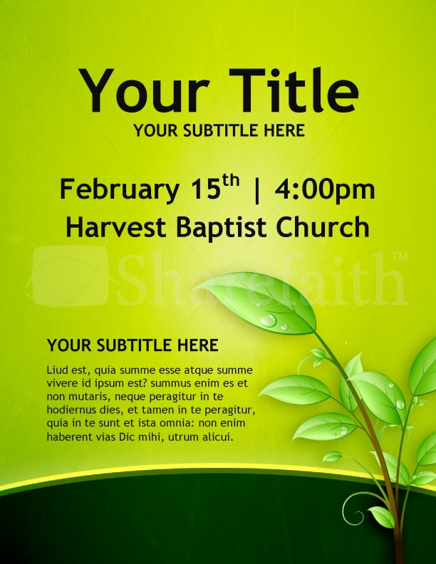 Christian growth church flyers template flyer templates for Religious flyers template free