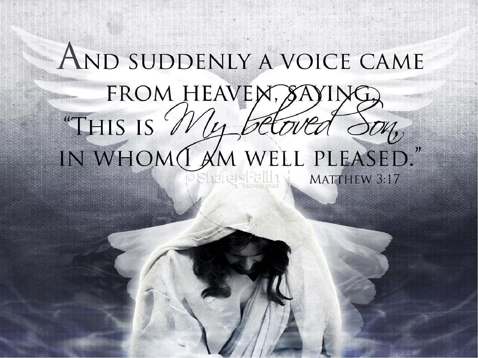 Jesus Baptism PowerPoint Template