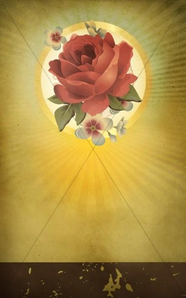 Valentine Rose Church Bulletin Cover