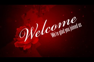 Valentine Day Rose Welcome Video Church Motion Graphics