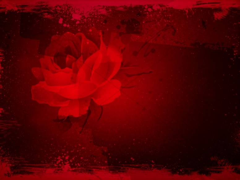 Valentines Day Roses Worship Background