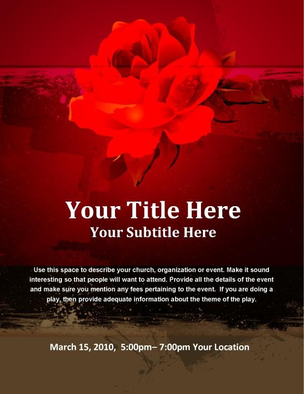 Valentines Flower Flyer Template