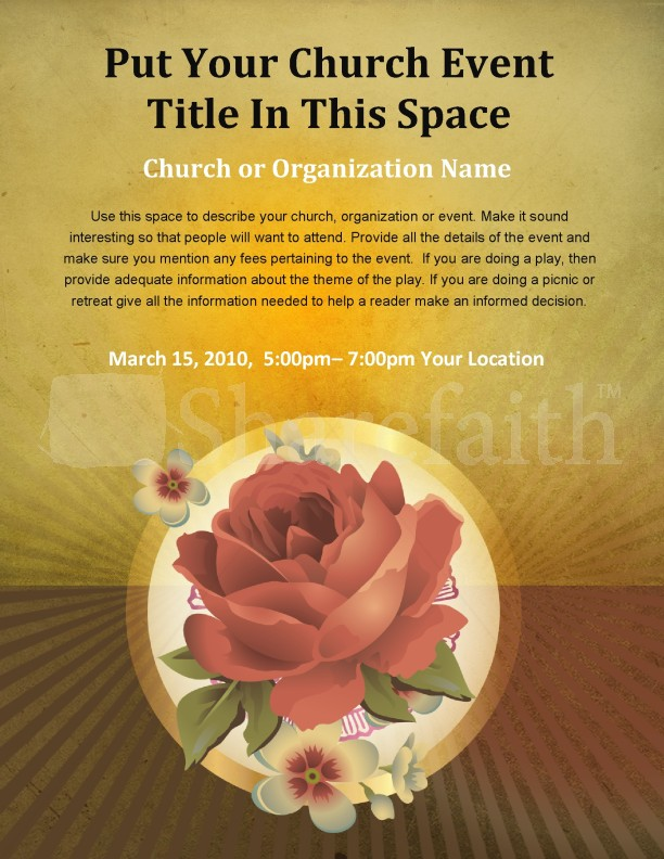 Rose Church Flyer Templates