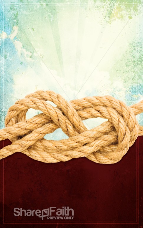 Rope Church Bulletin Cover