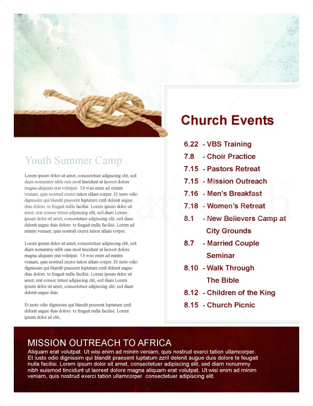 Hold Fast Church Newsletter
