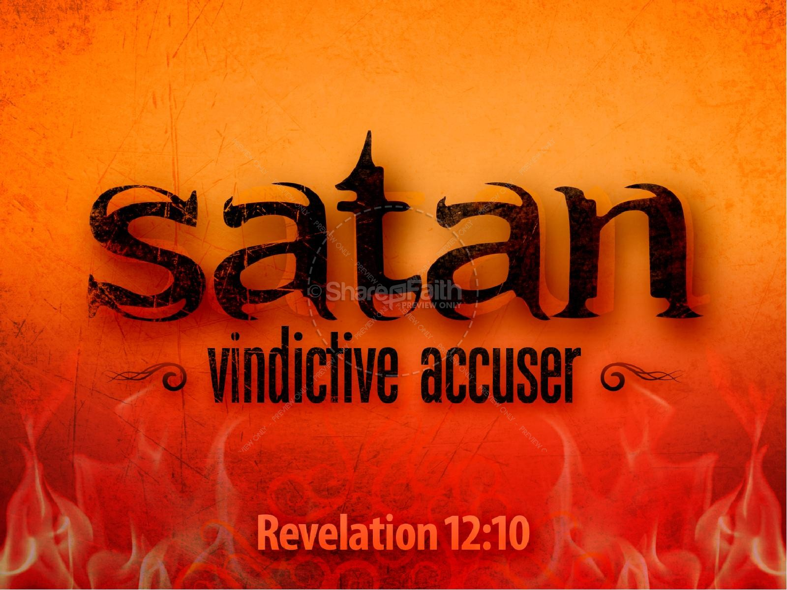 Satan Sermon PowerPoint Template