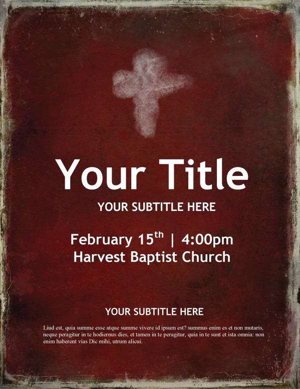 Lent Season Church Flyer