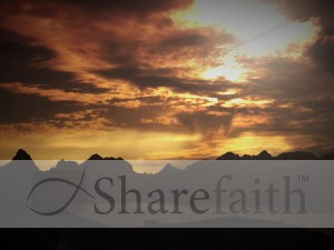 Sunset Mountains Worship Background