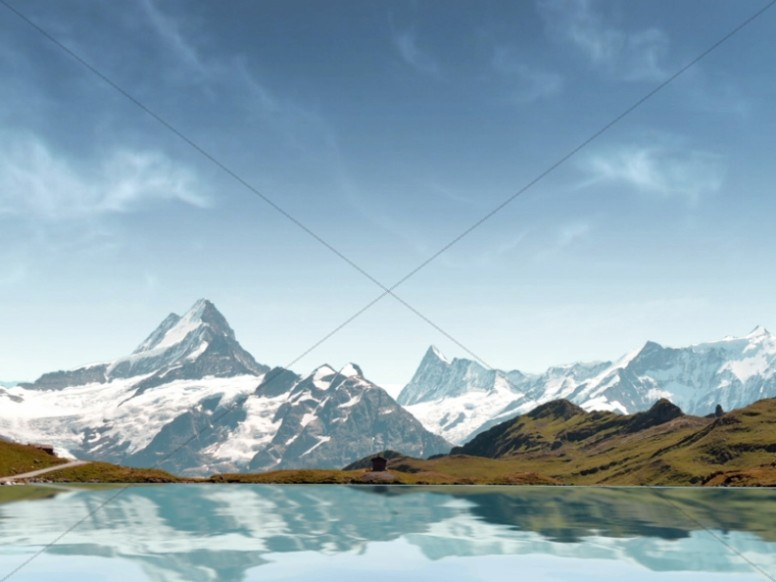Mountain Landscape Worship Background