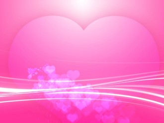Pink Heart Worship Background