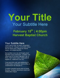 Green Leaf Church Flyer