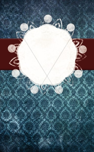 Blue and Maroon Pattern Church Bulletin Template