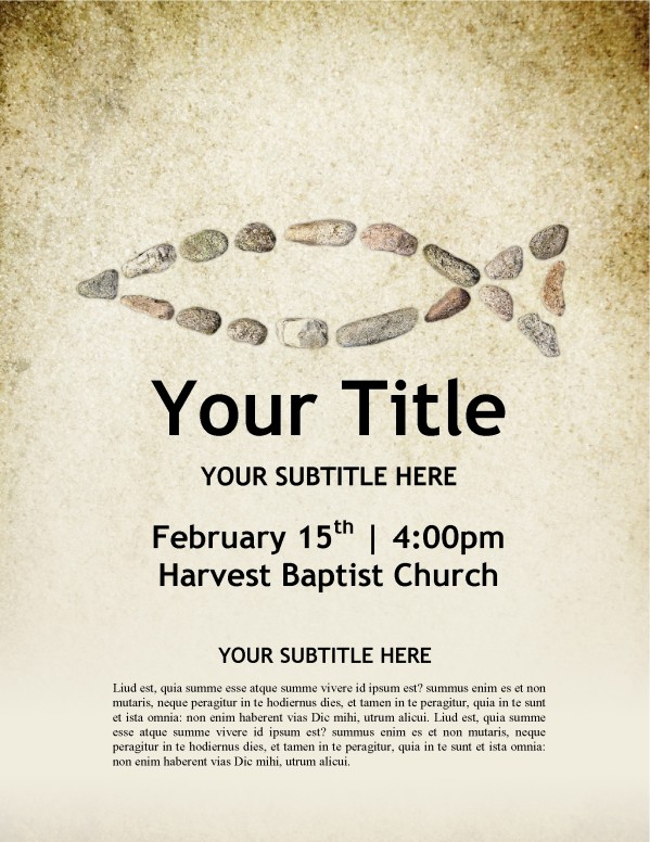 Fish Symbol Church Flyer Template