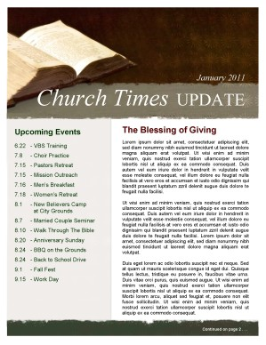 Open Bible Church Newsletter