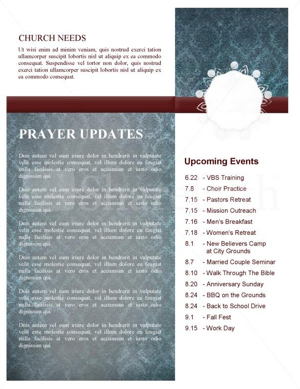 Circle Pattern Church Newsletter Template