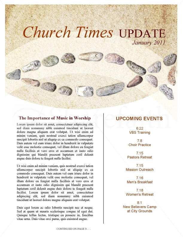 Lent Church Newsletter Template