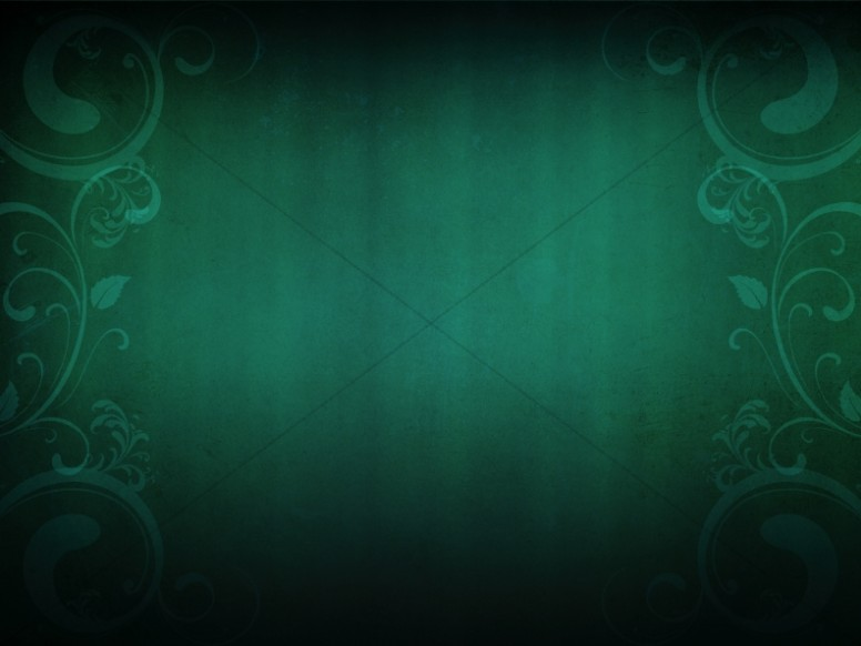 Green Curly PowerPoint Backgrounds