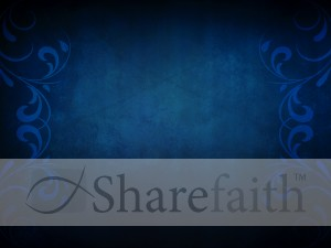 Blue Flourishes Worship Backgrounds