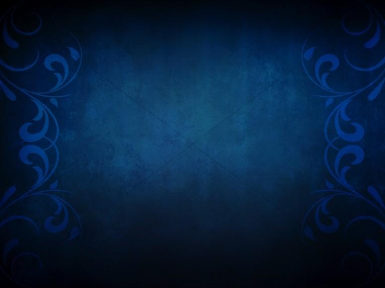 Blue Flourishes Worship Backgrounds