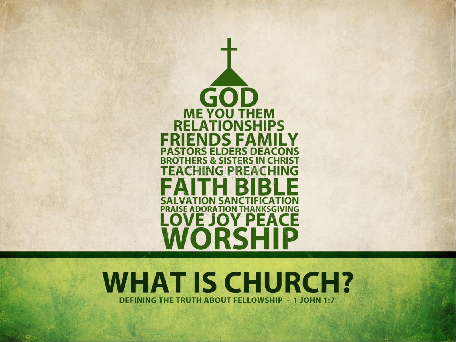 What Is Church Sermon PowerPoint Template