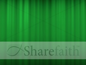 Wavy Green Worship Background