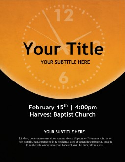 Clock Church Flyer