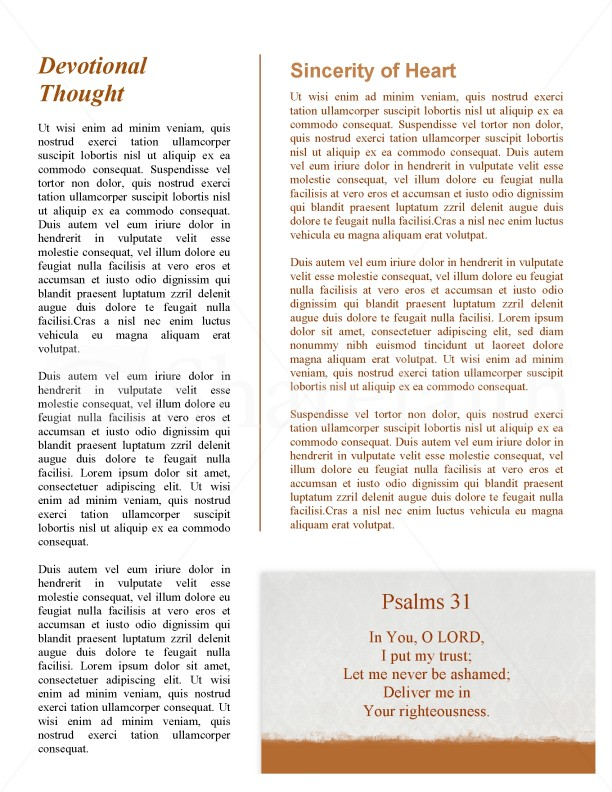 Praying Church Newsletter