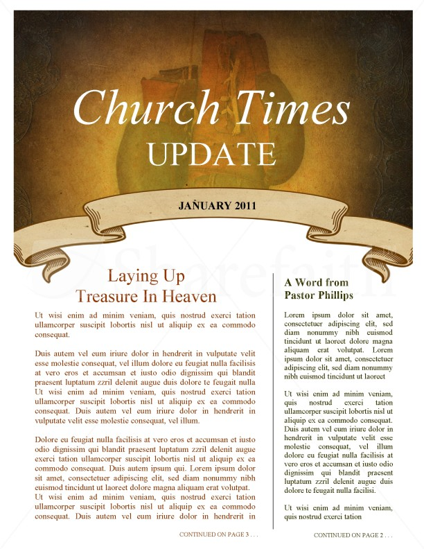 Combat Church Newsletter Template
