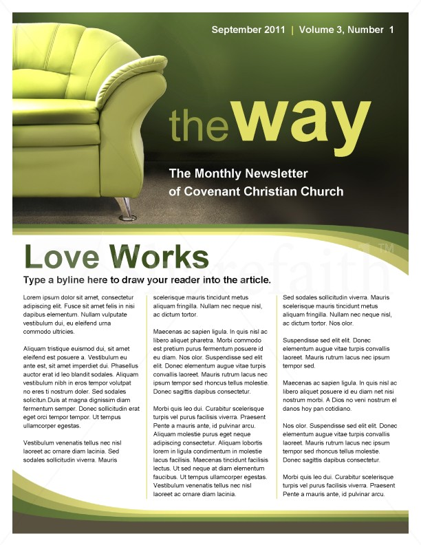 No Stress Church Newsletter