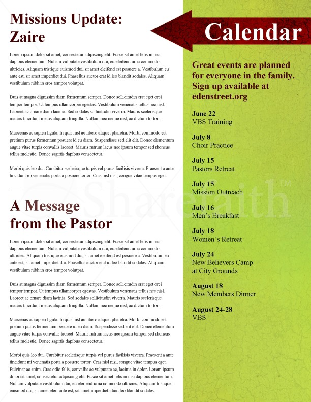 Apple Church Newsletter Template | page 4