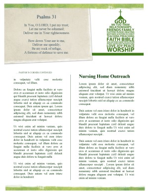 The Church Newsletter Template