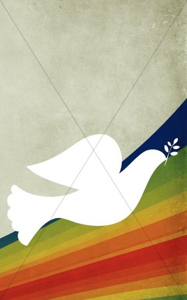 holy spirit dove church bulletin cover