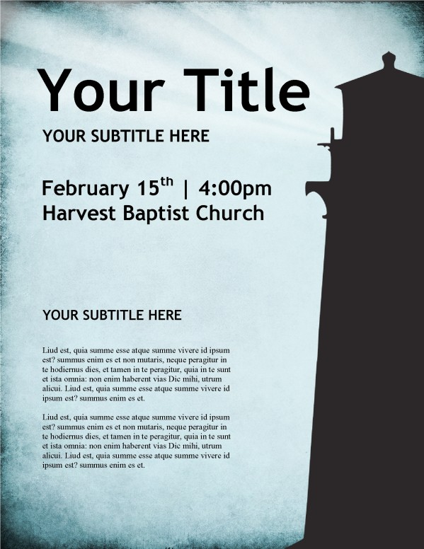 Lighthouse Church Flyer