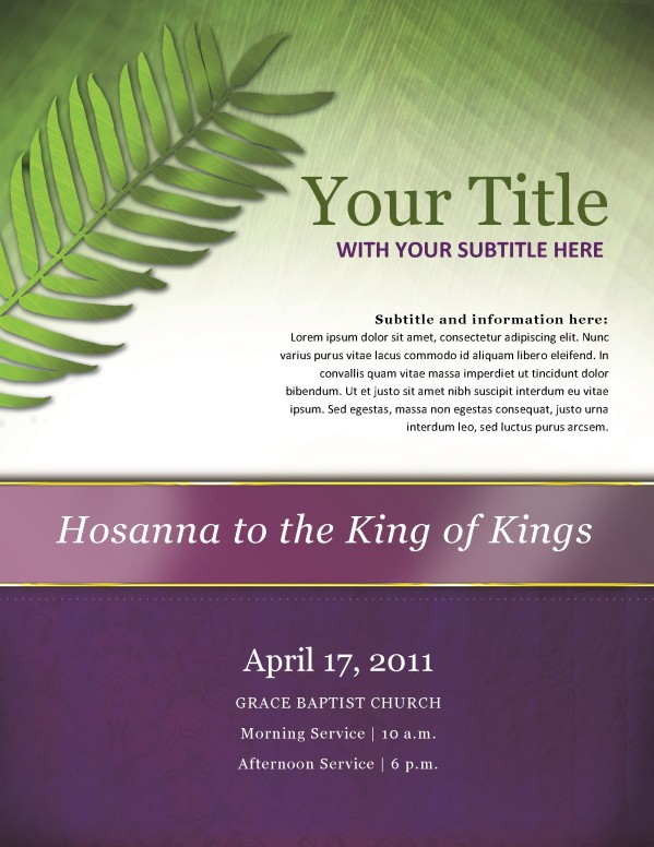 Palm Sunday Church Flyer
