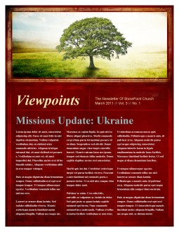 Tree Church Newsletter Template